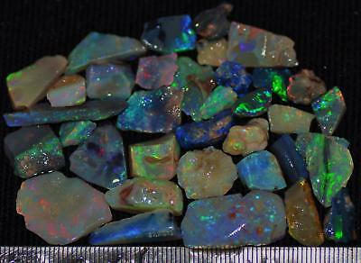 100 Cts Solid Gem Quality Lightning Ridge Rough And Rough Rubbed Opal Parcel 72