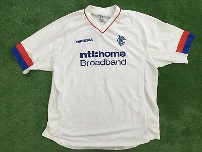 Scotland Rangers  2002 - 03 Ntl Football Away Shirt Size Xl Extra Large  Adult