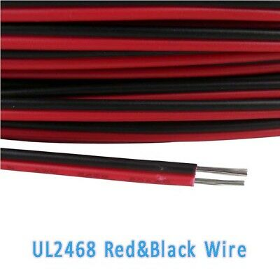16~28AWG UL2468 Flat Ribbon 2 Core Cable Red & Black Stranded Electronic Wire