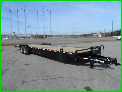 "Down to Earth 82 x 34 wood deck 2 car 10"" C Channel hualer trailer 14k GVWR New"