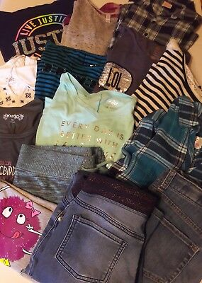 Girls Size 14/16 Lot Of Clothes 14 Pieces - Justice And More - Nice!!!