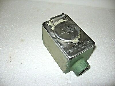 """Russellstoll EVER-LOK 4P5W Female Receptacle/ Crouse Hinds FD2 3/4"""" Condulet Box"""