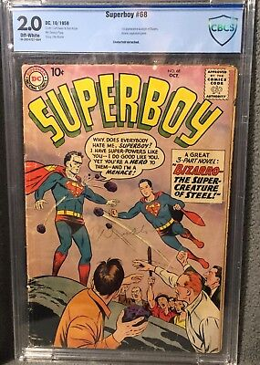 CBCS 2.0 SUPERBOY #68 (DC, 1958) Origin and first appearance of Bizarro