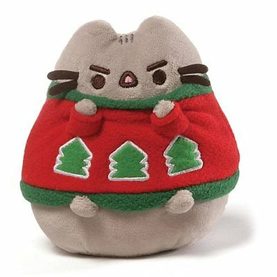 Gund New * Holiday Sweater Pusheen * Christmas Cat 4.25 Inch Plush Kitty Kitten