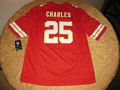 7037c4408 New Authentic Nike Jamaal Charles Kansas City Chiefs Jersey Mens Large  Retail100