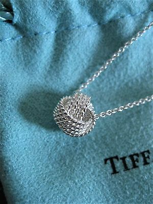 """$150 Tiffany & Co Sterling Silver 925 Twist Knot Pendant on 16""""inch Necklace"""