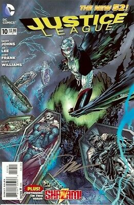 Justice League #10 Signed Jim Lee Dc New 52