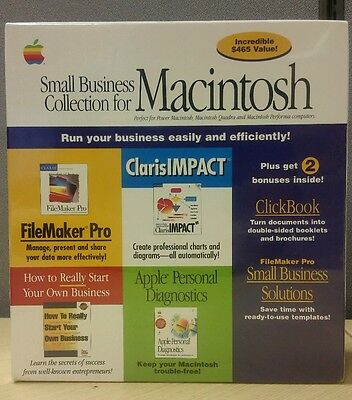 New Sealed Macintosh Claris FileMaker Pro, IMPACT and More 6 Softwares included!