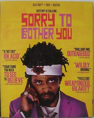 SORRY TO BOTHER YOU (Blu-ray/DVD, 2018 + DIGITAL) NEW, SEALED WITH SLIPCOVER