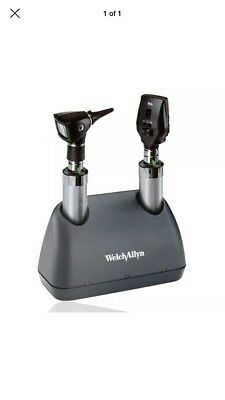 Welch Allyn 3.5v Ophthalmoscope Elite Desk Set NICAD Handles 71824-M
