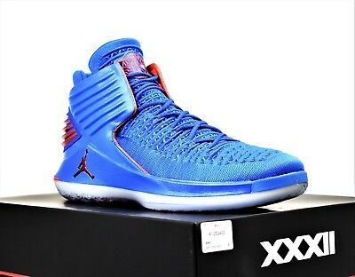 buy online 1b55a 53cfc New Air Jordan Xxxii Mens Basketball Shoes Blue Orange Why Not Russell  Westbrook