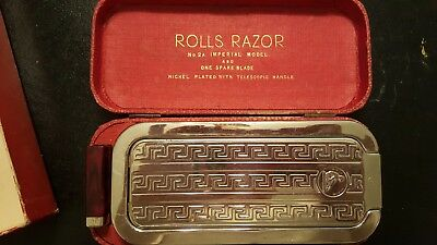 Vintage Imperial No. 2A Rolls Razor Nickel-Plated - A14