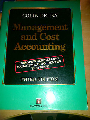 Management and Cost Accounting by Colin Drury (Paperback, 1992)