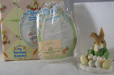 Enesco My Blushing Bunnies Friendship Puts Smile On Face Bunny Sitting Snow Ball