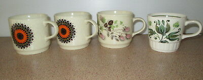 Vintage Retro Kitchen Dinnerware Mugs Cups Made In Australia Starburst Palissy
