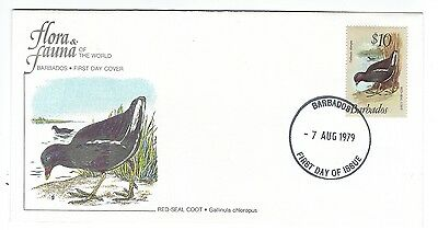 Barbados - Red Seal Coot $10 stamp on FDC