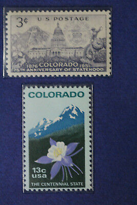 Colorado Commemorative Stamps 3 Cent 75th And 13 Stamp