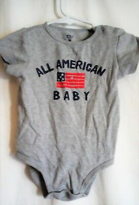 Boys 24 Month Gray All American Baby Creeper Crawler Jumpsuit Euc ~ Carter's