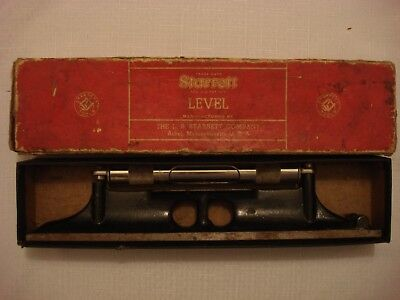 "Vintage L.S. Starrett Company 18"" Machinists Level No. 98-18 w/Box USA Tested"