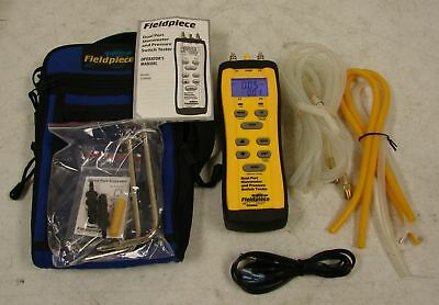 Fieldpiece SDMN6 Digital Dual Port Manometer and Pressure Switch Tester