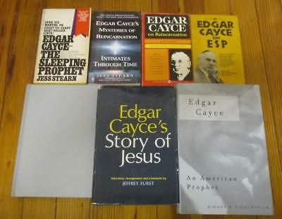 Lot of 7 EDGAR CAYCE Books (paperback & hardcover)