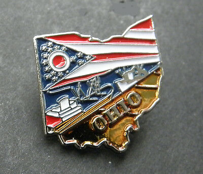 Ohio Us State Map Lapel Pin Badge 1 Inch