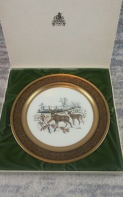 """Vintage Pickard Collector Plate Wildlife White Tailed Deer 11"""" W/box"""