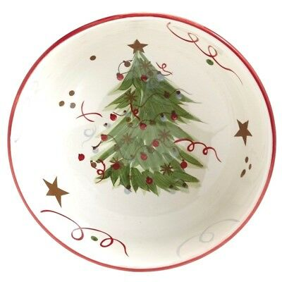 Serving Bowl Christmas X-mas Table Decor Serving Kitchen Winter Holiday Tree NEW