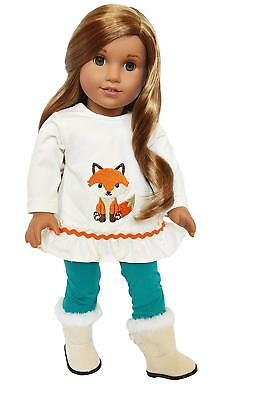 Fall Fox Outfit Fits 18 Inch American Girl Doll Clothes