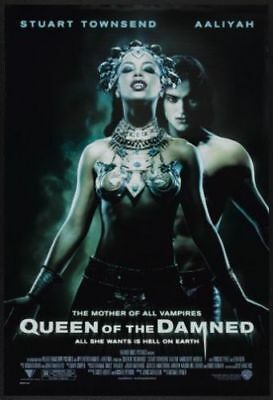 """MOVIE POSTER The Queen Of The Damned 2002 27x40"""" Aaliyah"""