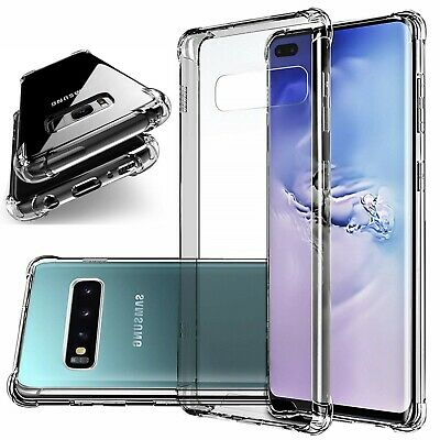 Clear Shockproof Phone Bumper Case For Galaxy Note 10 9 8 5 S6 S7 S8 S9 S10 Plus