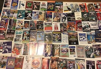 Huge MIXED Pocket Schedules Lot of 200 Different Skeds. 70s, 80s, 90s & 2000s