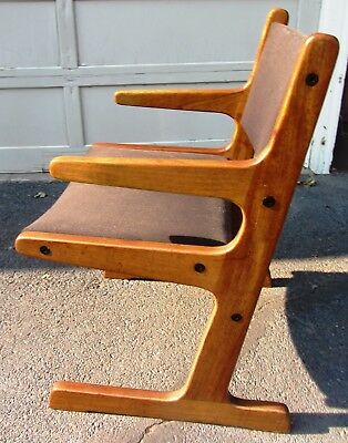Unusual Cool 60S Vintage Solid Teak Danish Modern Mid Century Armchair Chair