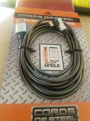 Cords of Steel for iPhone & Android (micro USB), right angle, QUANTITY DISCOUNT