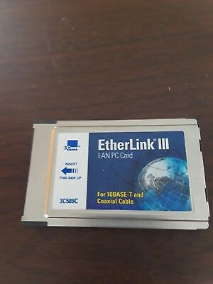 3com 3C589C Etherlink III Lan PC Card for 10BASE-T and Coaxial Cable PCMCIA