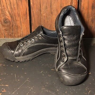 21eab6631d93 Keen Presidio Leather Casual Walking Hiking Casual Shoes Womens Size 7.5  Black