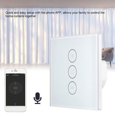 WIFI Curtain Switch Touch Panel Smart Switch with Google Home Alexa Support APP