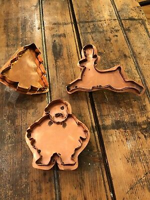 Copper Cookie Cutter w/ Handle Christmas Tree Santa Reindeer - Martha By Mail?