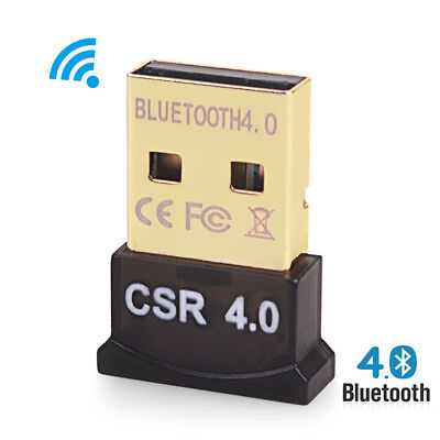 Bluetooth 4.0 USB 2.0 CSR4.0 Adapter Dongle Receiver Mini For PC Laptop i