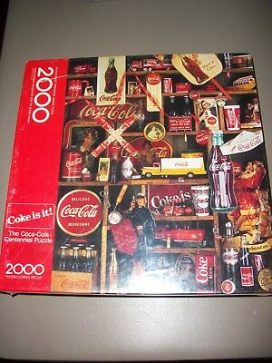 Vintage 1986 COKE IS IT! 2000 Piece Springbok Coca-Cola Puzzle~Sealed!