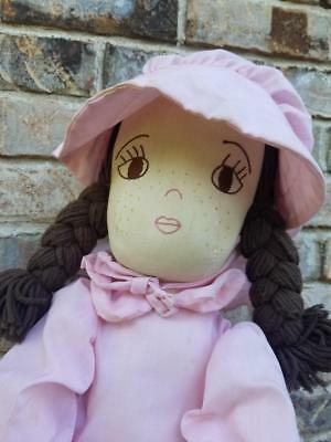 """Nice Handmade Soft Sculpture Girl Doll 27"""",Jointed Arms & Legs,Adorable clothing"""