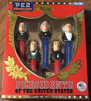 NEW PEZ PRESIDENTS OF THE UNITED STATES VOL II 1825-1845 Education Series USA