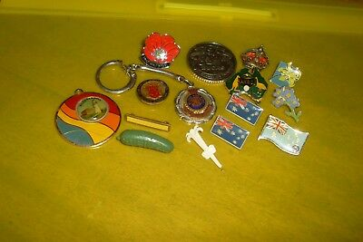 Small Collection Mixed Allsorts Vintage & Vintage Style Enamel Badges/pins Etc.