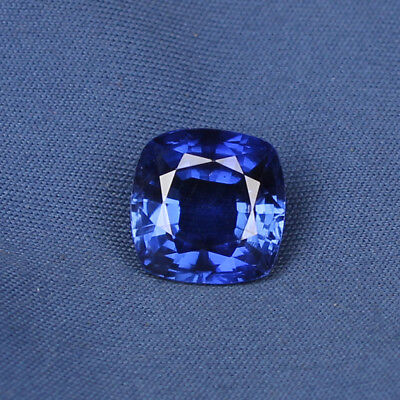 Natural Royal Blue Sapphire 8.45 Ct Square Cushion Cut Loose Gemstone Certified