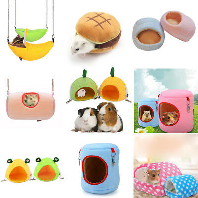 Small Animal Soft Warm Sleeping Bed Pet Hammock Hamster Squirrel Rat House