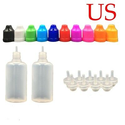 USA PotsPlastic Squeezable Eye Liquid Containers LDPE Dropper Juice Bottles  SF