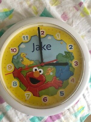 """Jake"" SESAME STREER/ ELMO Clock As New Clock Operated"
