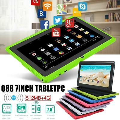 "7"" Tablet PC Android Camera Quad-core 4GB WiFi Google Dual Card for Kids Child"