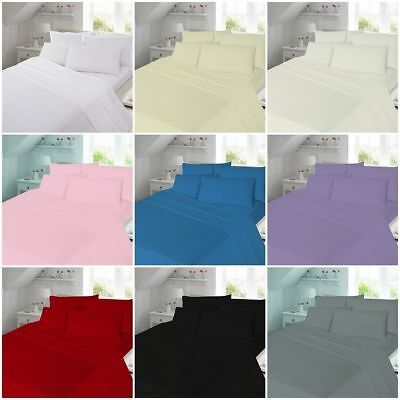 4 FOOT Small Double Plain Dyed FLANNELETTE Fitted Or Flat Bed Sheet 100% Cotton