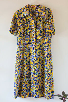Floral purple and yellow vintage frock!  Size M